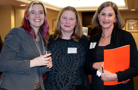 Calista Brill, editor, First Second Books, Hester Bass, author, and Stephanie Moody, author