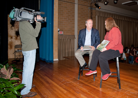 Hester being interviewed by MPB arts reporter Ron Brown