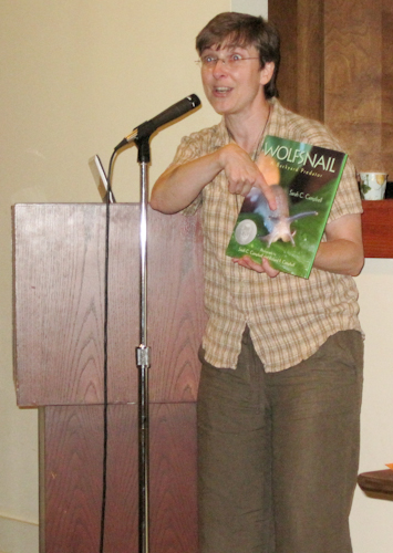 Sarah speaking at Oxford Public Library