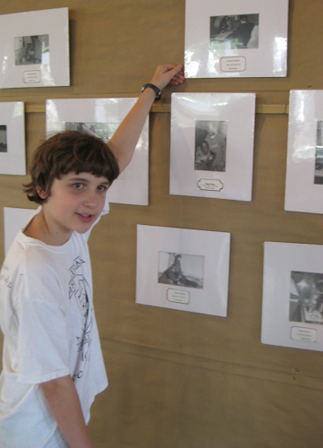 boy with photograph