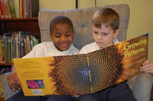 St Therese kids reading Growing Patterns