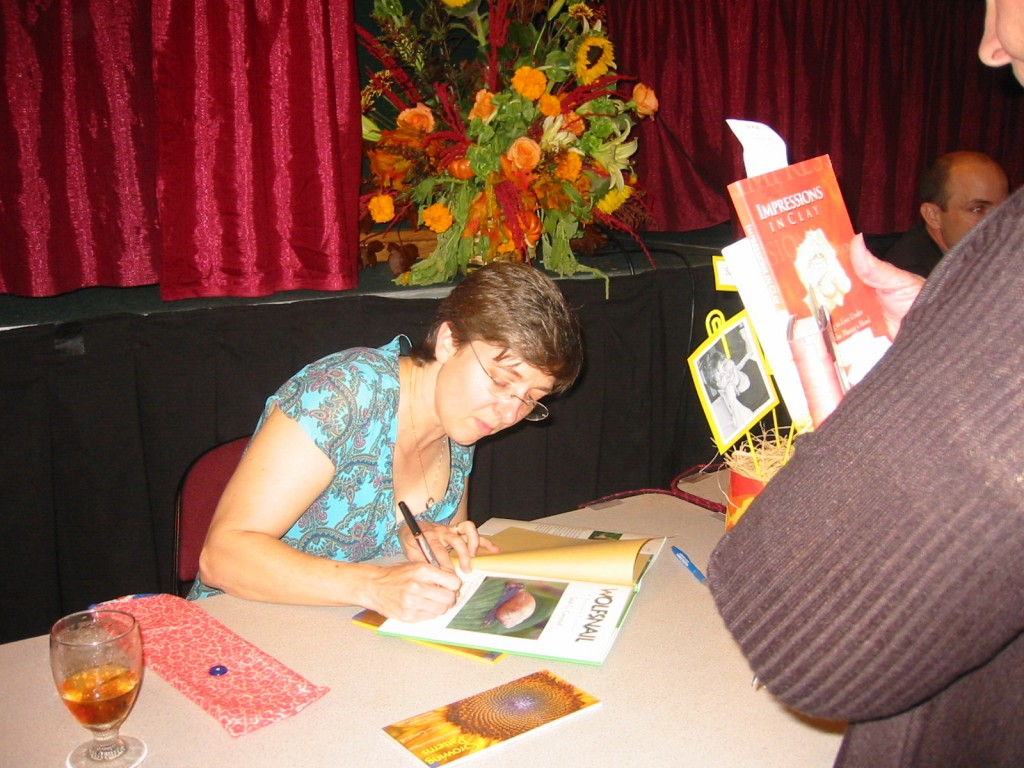 Sarah signing at MLA