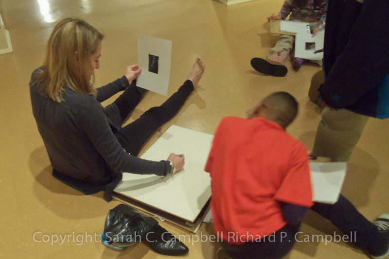Carol Cox Peaster leading drawing class