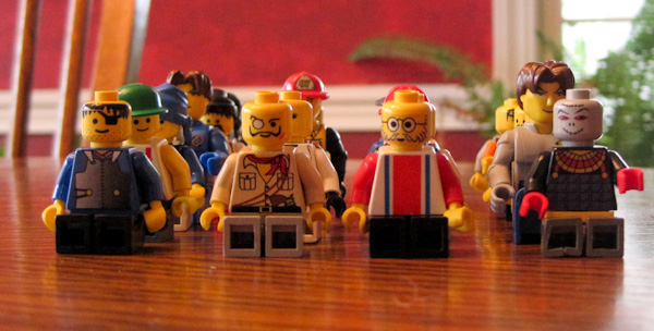 lego dudes as models for third grade classes