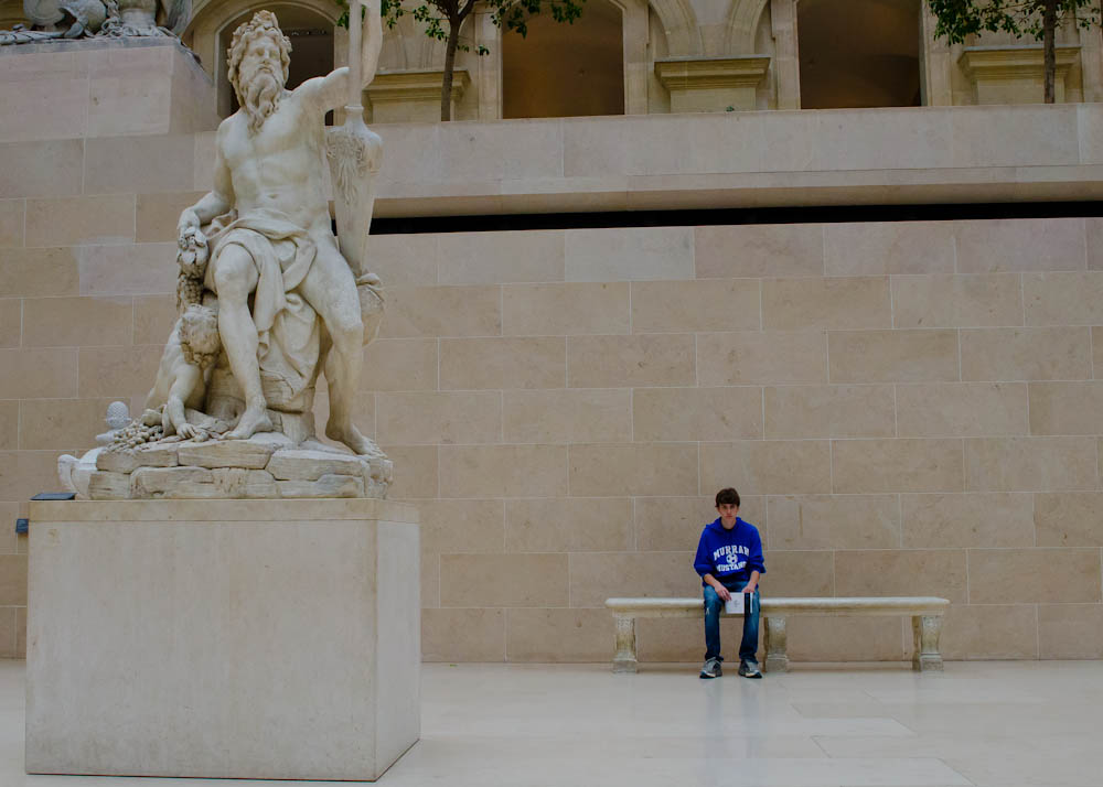nate at the Louvre