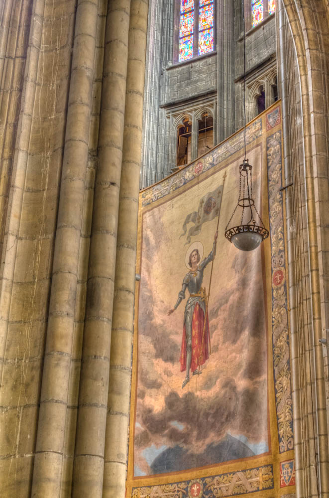 joan of arc banner at orleans cathedral