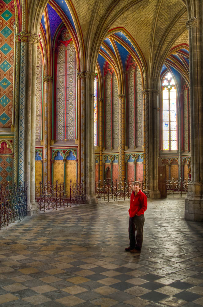 sarah in orleans cathedral hdr