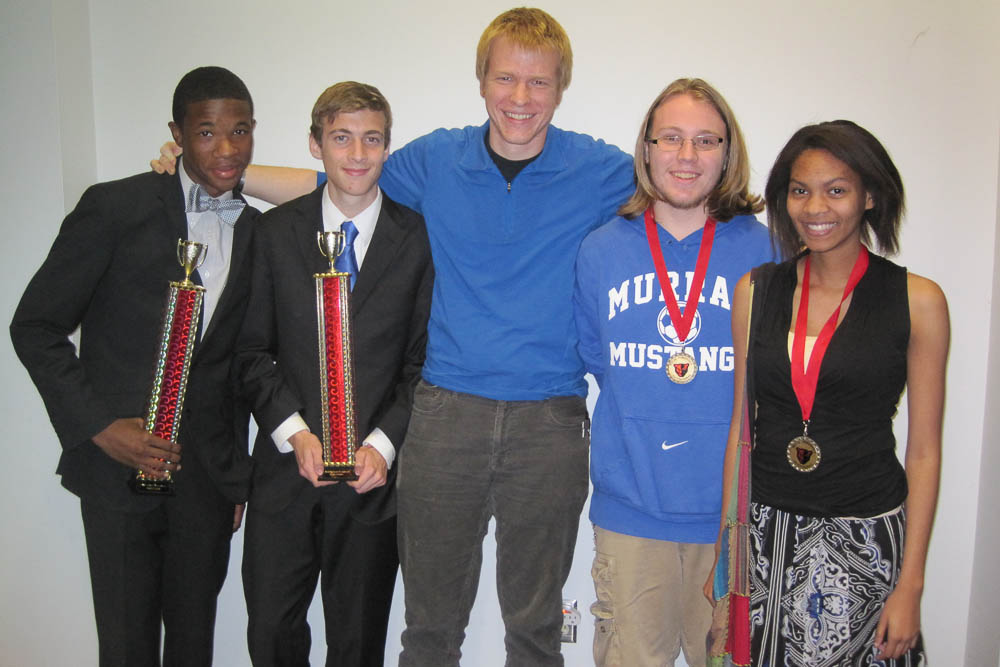 Murrah High School Speech and Debate team members at Petal