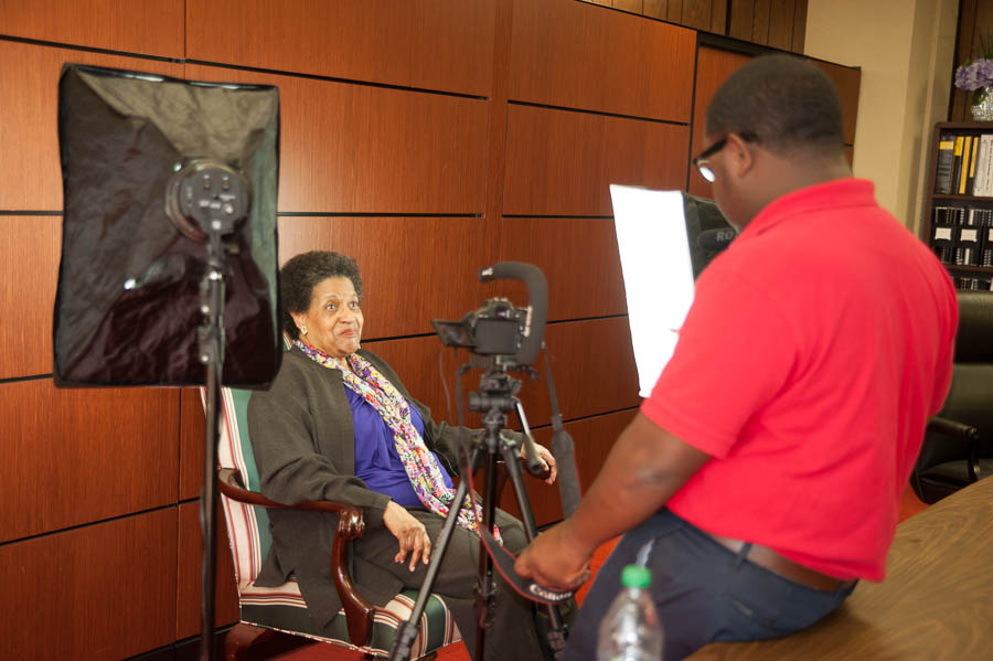 Rod on location with Mrylie Evers Williams