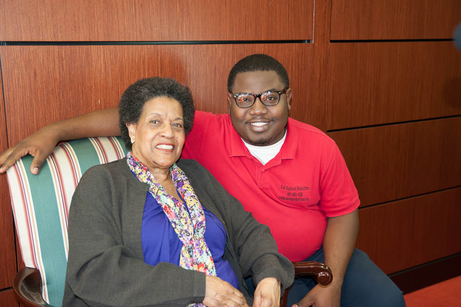 Rod with Mrylie Evers-Williams close-up