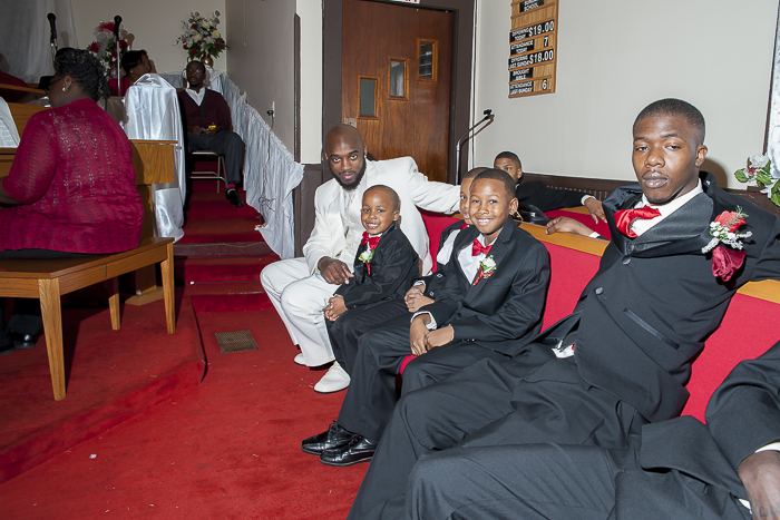 groom with some of his little men